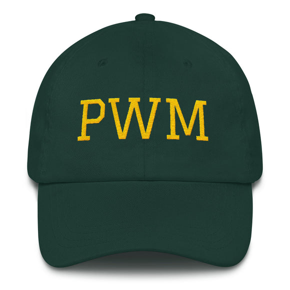 Portland Maine PWM Airport Code Hat - Green