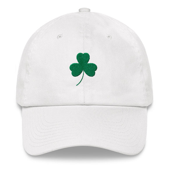 Shamrock Dad Hat - White