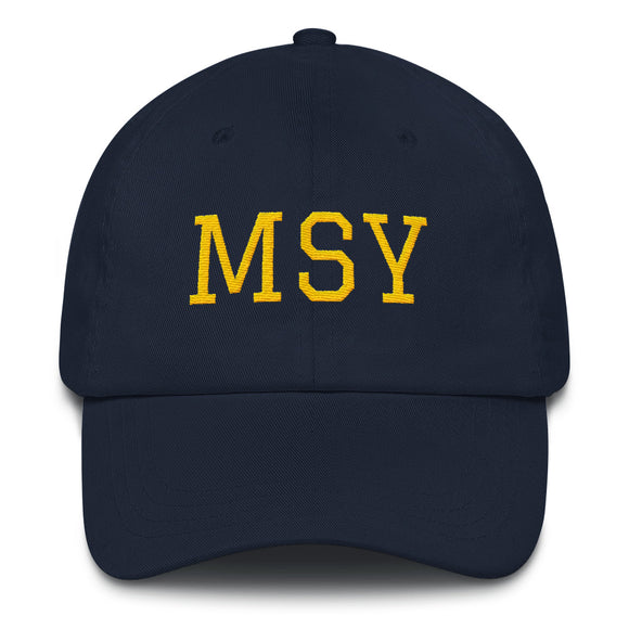 New Orleans MSY Airport Code Hat  - Navy