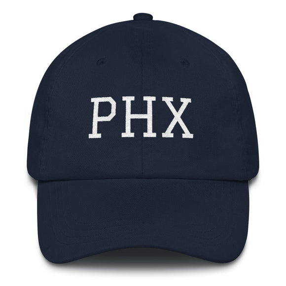 Phoenix PHX Airport Code Hat - Navy