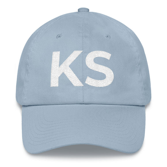 Kansas KS Hat - Light Blue