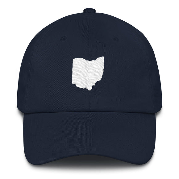 State of Ohio Outline Hat - Navy