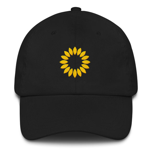 Kansas Sunflower Hat - Black