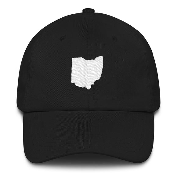State of Ohio Outline Hat - Black