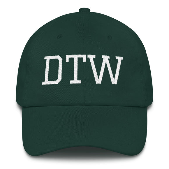 Detroit DTW Airport Code Hat - Green
