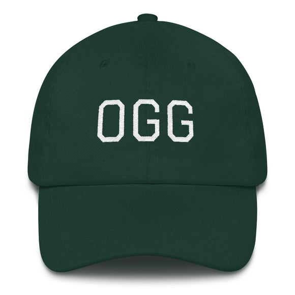 Kahului OGG Airport Code Maui Hat - Green