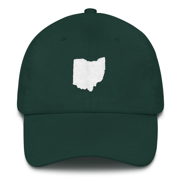State of Ohio Outline Hat - Green
