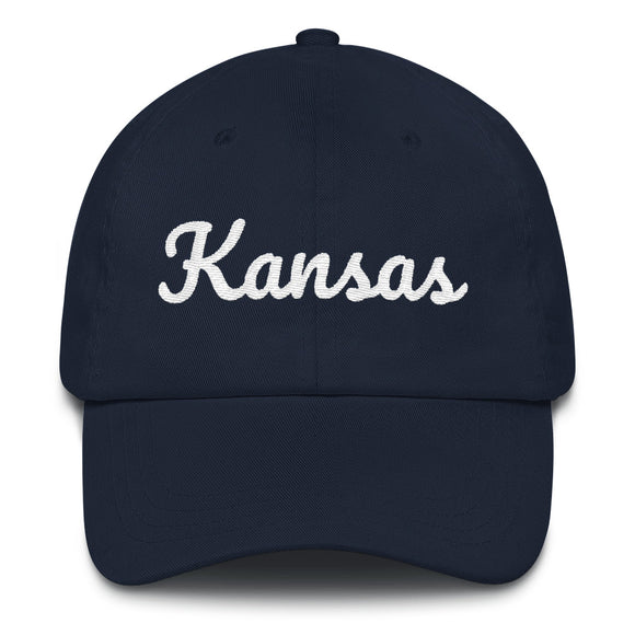 Cursive Kansas Hat - Navy