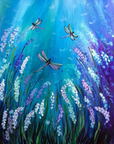 "Art class Perth November 24 Sunday ""Dragonfly Daydream""."