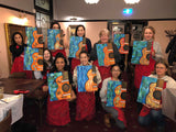 "Art class Melbourne Thursday October 3 ""Balloon Girl""."