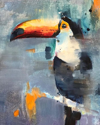 "Art class Perth Sunday October 13 ""Abstract Toucan""."