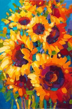 "Art Class Melbourne Sunday 24 November ""Sunflowers Forever""."