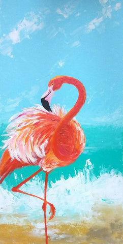 "Art Class Melbourne Wednesday 13 November ""Fabulous Flamingo""."