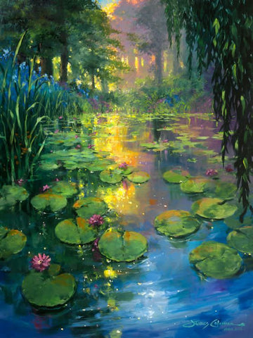 "Art class Melbourne Thursday October 17 ""Lily Pad Paradise""."