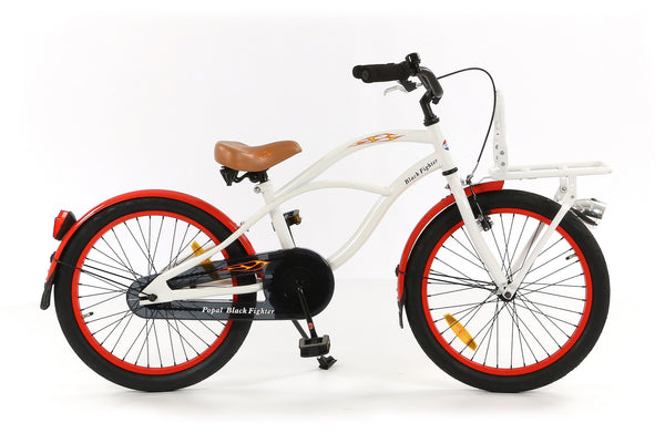 Popal Black Fighter 20 Zoll Beachcruiser - COZYBIKE