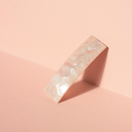 Barrette in Pink Marble