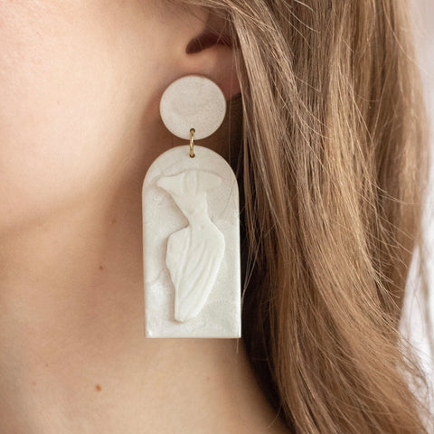 No. 4 // Polymer Clay & Brass Earring