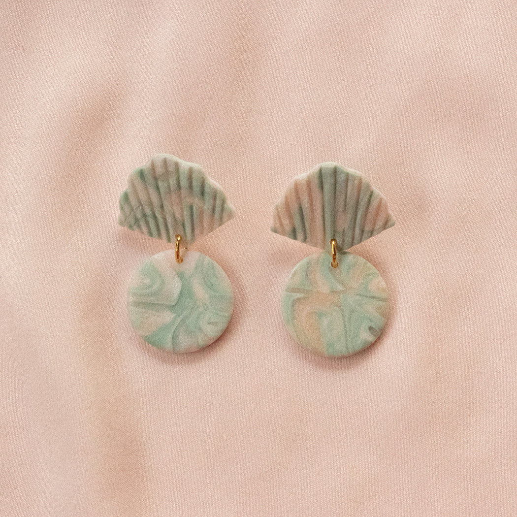 Mini Delta Drops in Celadon Marble