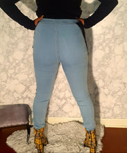 "Load image into Gallery viewer, "" Hot girl"" Denim Jeans with side cutouts"