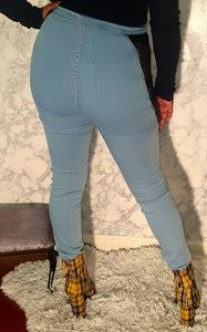 """ Hot girl"" Denim Jeans with side cutouts"