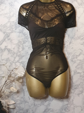 "Load image into Gallery viewer, ""Touch Me"" Plus Mesh Bodysuit"