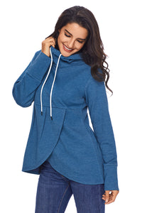 Asymmetric Hooded Sweater