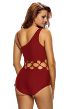 Load image into Gallery viewer, Asymetric Lace Up Monokini