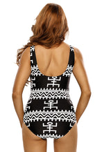 Load image into Gallery viewer, Tribal Zip Front Swimsuit