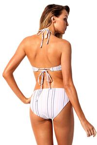 Striped Cutaway Top Bikini