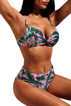 Load image into Gallery viewer, Pink Tropical Palm Print Bikini