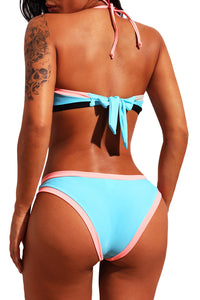 Halter Top Bikini With Highlighter Trim