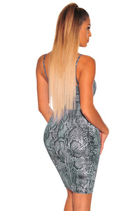 """Sssamantha"" Snake Print Bodycon Dress"