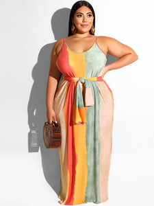 """Deena"" Plus Maxi Dress"