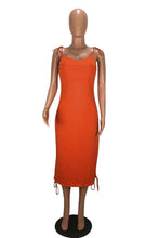 "Load image into Gallery viewer, ""Becky"" Draped Slip Dress"