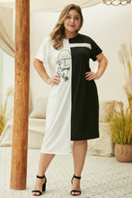 "Load image into Gallery viewer, ""Soriah"" Two Tone T-Shirt Dress"
