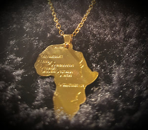 """Motherland"" Gold Necklace"