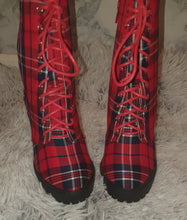 "Load image into Gallery viewer, ""Zoe"" Plaid Booties"
