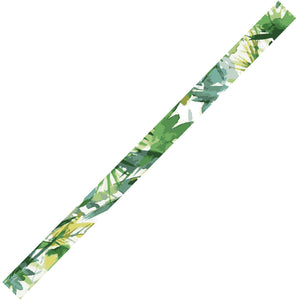bande motif cap vert LadyGum silicone mon petit bangle léger souple waterproof bijou fantaisie feuille vert kaki jungle green touch floral tropique tropical
