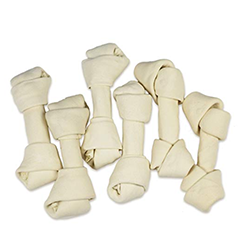 Hotspot Pets 7 Inch USDA Certified Rawhide Dog Chew Bones - Choice of 10, 20, 30 Packs - from Grass Fed Brazilian Cows - Promotes Dental Hygiene and Good Behavior