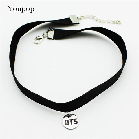 Youpop KPOP BTS Bangtan Boys Album Chokers Necklace Korean Fashion Jewelry Accessories Rock Collar For Men Women Boy Girl X5000