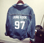 kpop Bts bangtan boys Jimin jhope jungkook women bomber winter Denim Jacket