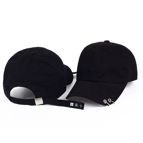 baseball cap with rings bts jimin hat bts suga cap BTS LIVE THE WINGS TOUR kpop bts cap Iron Ring Hats Baseball cap 100% handmad