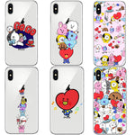 Cartoon Stars KPOP BTS Signature Case For iphone X 10 8 8Plus 7 6 6S Plus 5S SE Cover Love Yourself Bangtan BT21 Hard PC Cover