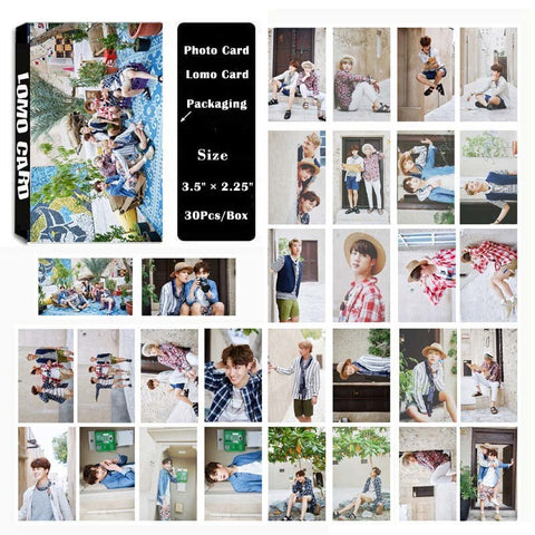 YANZIXG KPOP  BTS Bangtan Boy Album Summer Package Self Made Paper Lomo Card Photo Card Poster HD Photocard
