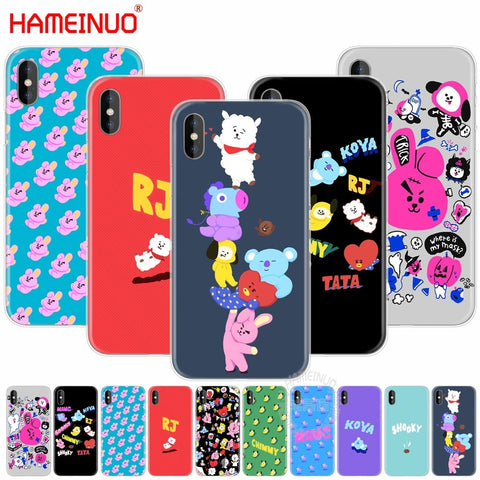 HAMEINUO BTS BT21 Bangtan Boys KOYA SHOOKY cell phone Cover case for iphone X 8 7 6 4 4s 5 5s SE 5c 6s plus