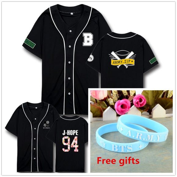 New Kpop BTS bangtan boys wings album same style Unisex Army tshirt  tee suga jimin t shirt with free wristband