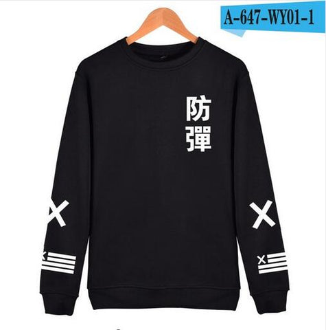 2018 BTS Kpop Harajuku Hoodies men Black Cotton Fashion Hip Hop Coat Capless Sweatshirt men BTS Korean Casual Bangtan Clothes