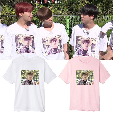 BTS Kpop Jungkook The Same Style Hawaii Summer Cotton BTS T-Shirts Women/Men Clothes Tee Shirts Short Sleeve Fans T Shirt Mens