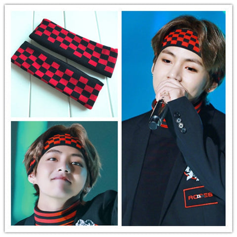 New Kpop Hip hop BT21 Bangtan boys BTS Jungkook Suga Jin V Same Style Concert Design Headband Hair Band