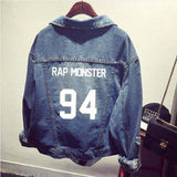 Mainlead KPOP BTS Jacket Bangtan Boys J-hope Jimin Jin Jung Kook Demin Coat Rap Monster Men Women Unisex